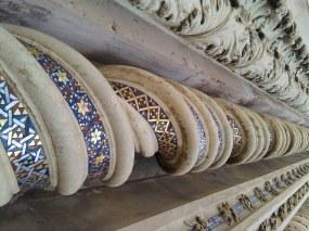 Spiral columns on the Duomo di Orvieto's facade