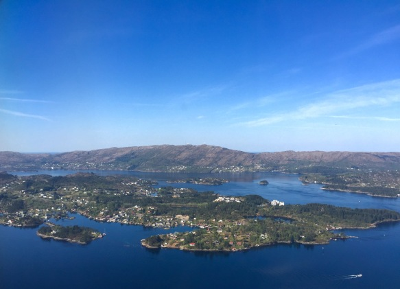 Flying into Bergen, Norway