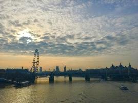 Sunset in London